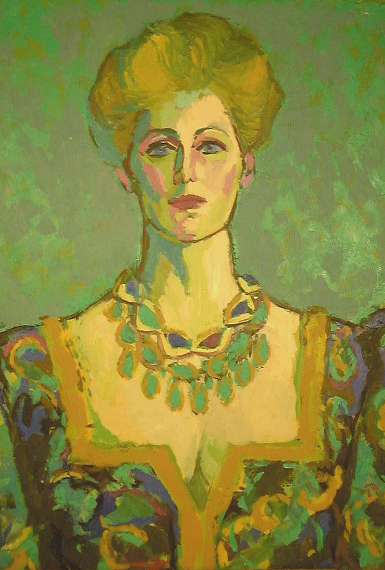 Opera Singer in Green