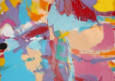Abstract Acrylic with Pink