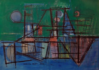 Green Blue Abstract '64