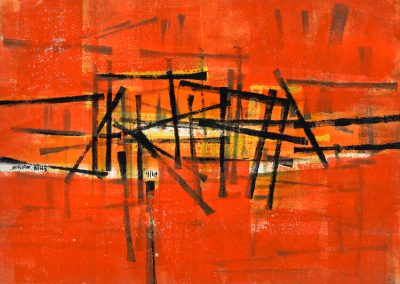 Orange Abstract '64