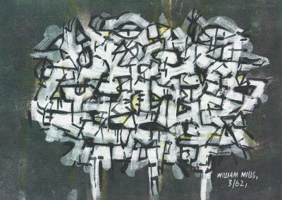 Abstract on Dark Grey