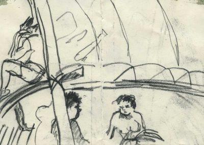New Guinea sail canoe 1983