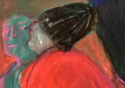 Sudden Kiss (detail work in progress) 2018