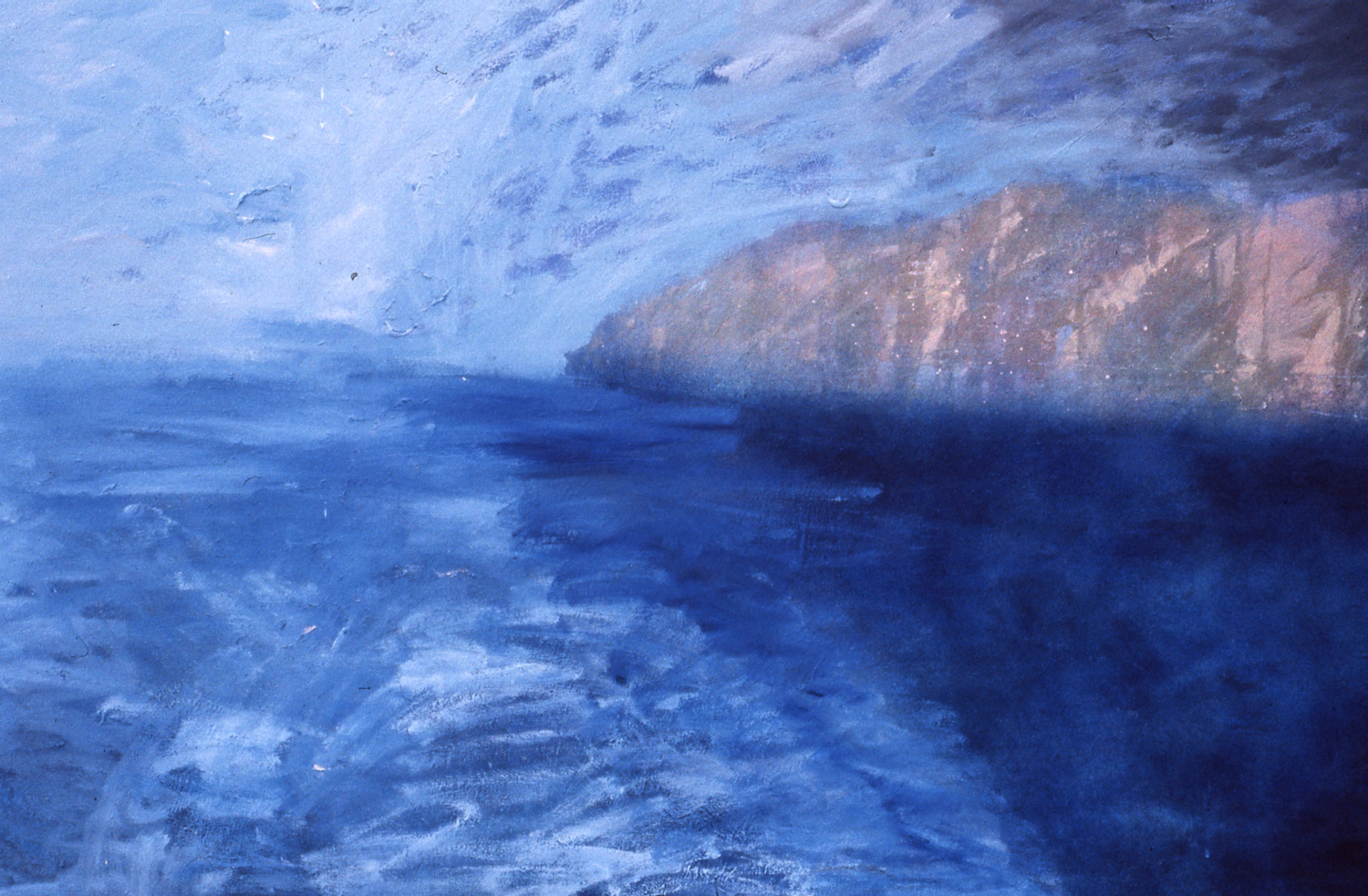 West Wales Coast 1990 acrylic and enamels on canvas 105 x 150cm private collection London