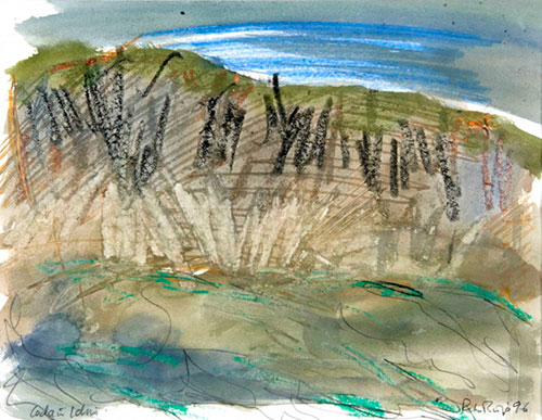 Cader Idris, 1996, watercolour and pastel, 19 x 24cm